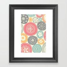 Candy Circles Framed Art Print