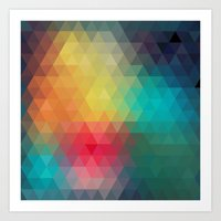 reassurance Art Prints featuring Abstract Geometric Pattern by Rothko