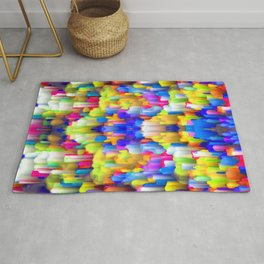 Colorful digital art splashing G395 Rug