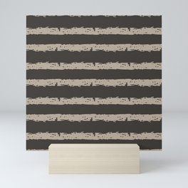 Texture Stripe Seaside Stone and Baja Dunes Mini Art Print