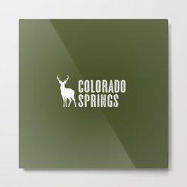 Deer: Colorado Springs, Colorado Metal Print