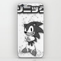 sonic iPhone & iPod Skins featuring Sonic by Small Worlds