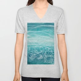 Blue Ocean Dream #1 #water #decor #art #society6 Unisex V-Neck