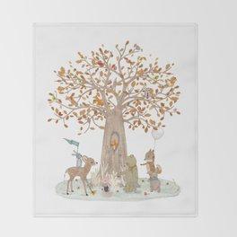the little oak tree Throw Blanket