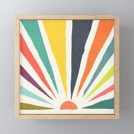 Rainbow ray Framed Mini Art Print