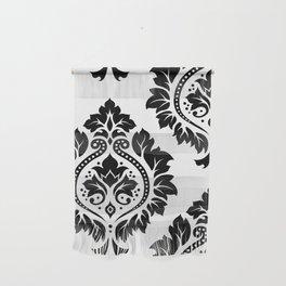 Decorative Damask Art I Black on White Wall Hanging