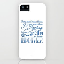 Cycling Brother iPhone Case
