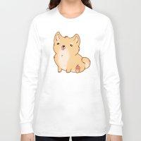 shiba inu Long Sleeve T-shirts featuring Shiba Inu by Berneri