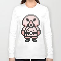 earthbound Long Sleeve T-shirts featuring Pigmask - Mother 3 / Earthbound 2 by Studio Momo╰༼ ಠ益ಠ ༽