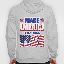 Funny 50th Birthday America Great Since 1968 Hoody
