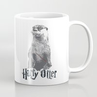 otter Mugs featuring Harry Otter by Tawd86