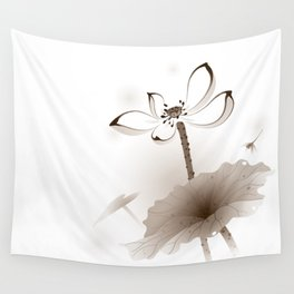 Oriental Lotus 003 Wall Tapestry