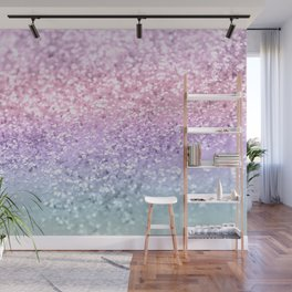 Unicorn Girls Glitter #1 #shiny #pastel #decor #art #society6 Wall Mural