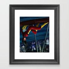 SpiderWoman Framed Art Print