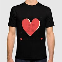I Love You Like A Love Song  MEDIUM Black Mens Fitted Tee