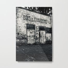 BOIS & CHARBONS Metal Print