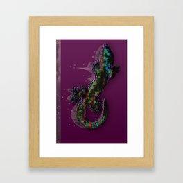 Candied Lizard Framed Art Print