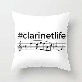 #clarinetlife Throw Pillow