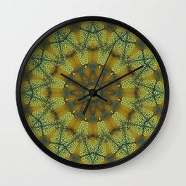 Jewelled Sunflower Splendor Wall Clock