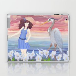 heron dance Laptop & iPad Skin