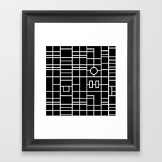 Map With Roundabout Framed Art Print