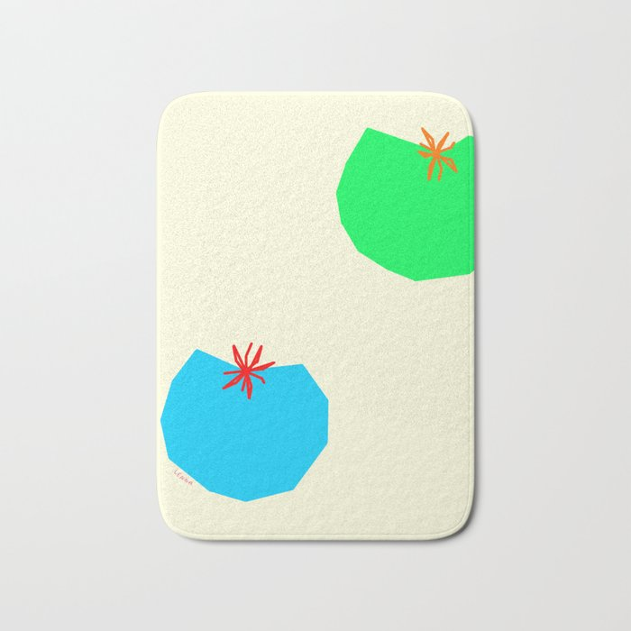 Words from Colorful Tomatoes - food vegetable illustration Bath Mat