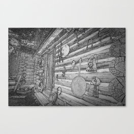 Old Mining Cabin Canvas Print