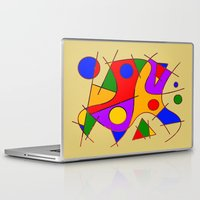 kandinsky Laptop & iPad Skins featuring Abstract #206 by Ron Trickett