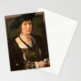 Jan Gossaert - Portrait of Hendrik III, Count of Nassau-Breda Stationery Cards
