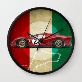 Monza Racetrack Vintage Wall Clock