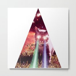 triangel cat Metal Print