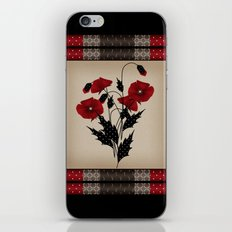 Flowers Art Poppies. Patchwork iPhone & iPod Skin
