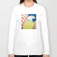 patriotic Long Sleeve T-shirts featuring Patriotic Eagle by whiterabbitart