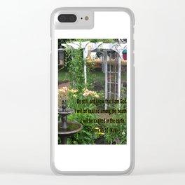 Beautiful Peace Clear iPhone Case