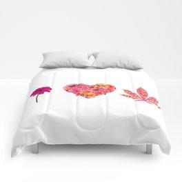 i Heart Pot Leaf Comforters
