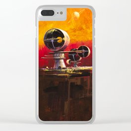 Space: Sienna City Clear iPhone Case