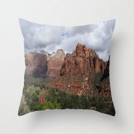 A View From Zion Mount Carmel Road  Throw Pillow