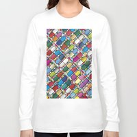 pills Long Sleeve T-shirts featuring Colorful Pills by Sr Manhattan