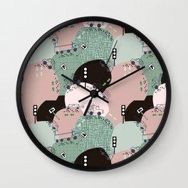 Four wheels green #homedecor Wall Clock