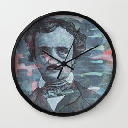 Poe - Deep Into That Darkness Wall Clock