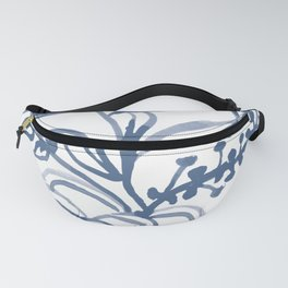 Blue Abstract Watery Lines Fanny Pack