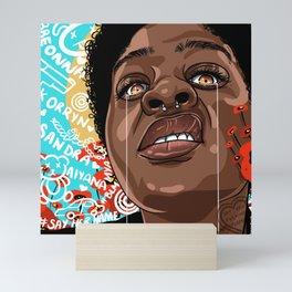 SAY HER MUTHAF*KIN NAME Mini Art Print
