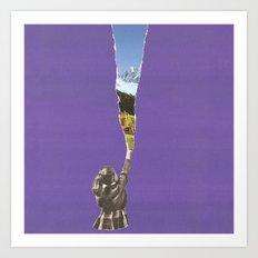 Landscape glimpse Art Print
