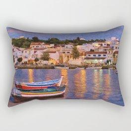 Ferragudo village at dusk, Portugal Rectangular Pillow