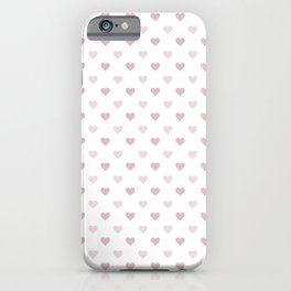 Cute and Adorable Pink Hearts Pattern iPhone Case