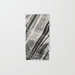 Abstract Marble - Black & Cream Hand & Bath Towel