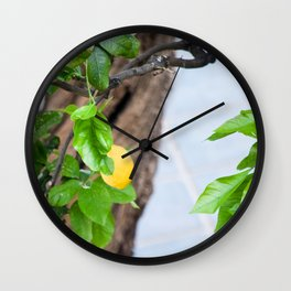 Italian Lemon Tree Wall Clock