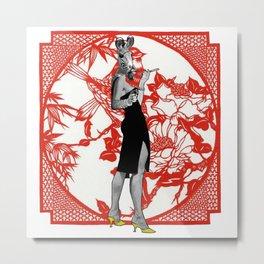 Madame Chang Metal Print