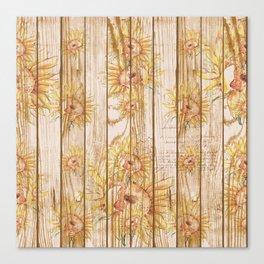 Vintage Sunflowers #9 Canvas Print