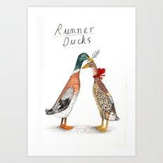 Runner Ducks Art Print